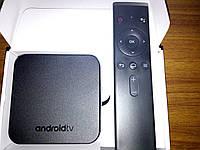 Smart TV приставка. Android TV-Box MECOOL KM9 (4/32гб). Голосовой поиск.