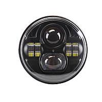 Фара мото LED 7 дюймов DL-J053B Нива, УАЗ 469, ГАЗ 24, ВАЗ 2101, Хаммер, FJ Cruiser, w463, Harley-Davidson