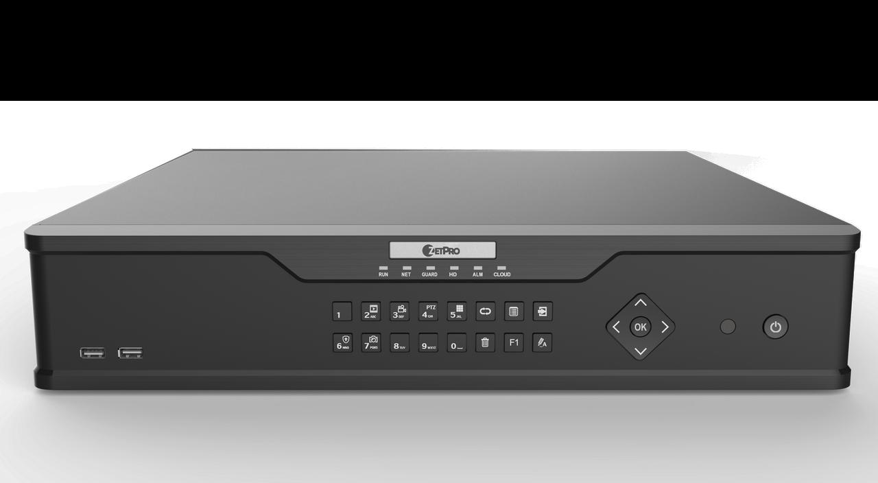 Smart IP видеорегистратор ZetPro ZIP-NVR308-64E-B (LPR + FR)