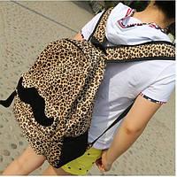 Рюкзак леопард с усами городской