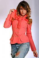 Стильный женский пиджак с шарфом р.44-46