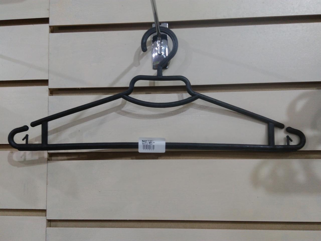 Вішалка Y-3 сорт 2 43*0,6 см з перекл. цв чорний (уп 160 шт)