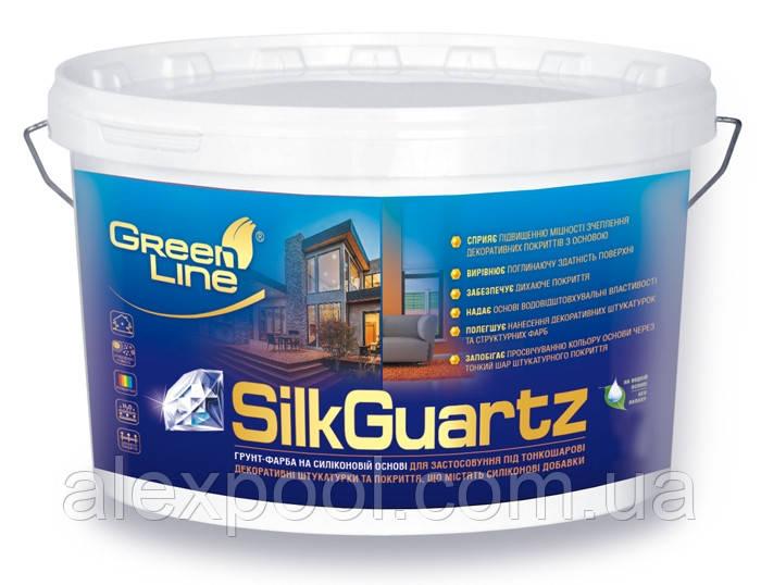 Грунт-фарба на силіконовій основі TM Green Line SILK GUARTZ 5 л