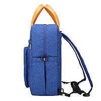 Стильная сумка для мам- синяя Mommore, фото 2