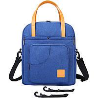 Стильная сумка для мам- синяя Mommore, фото 7