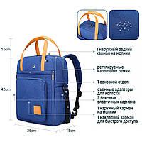 Стильная сумка для мам- синяя Mommore, фото 10