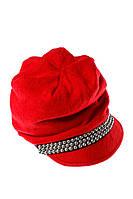 (Красный) (Размер 54-56) Кепка женская с бусинками, осенне-весенняя 65PF10-11
