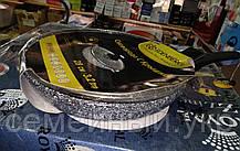 Сковорода гранитная с крышкой EDENBERG EB-9168 (28 см, 3.2 л), фото 3