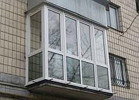 Французский балкон Г-образный Рехау с монтажом  и козырьками