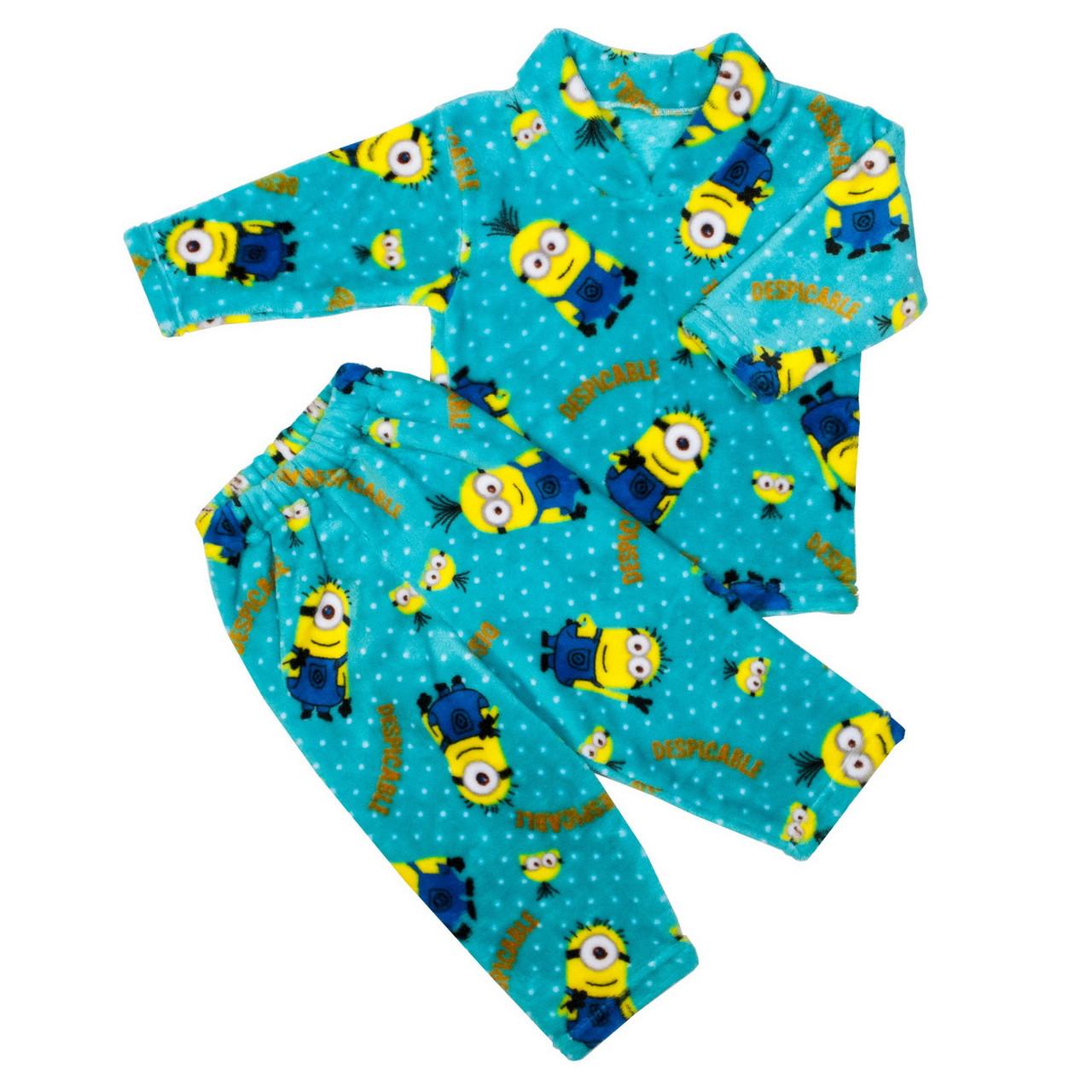 Пижама махра для мальчиков миньон бирюзовый