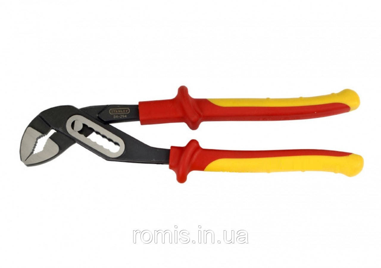 Клещи сантехнические STANLEY переставные с изолированными ручками l=255 мм