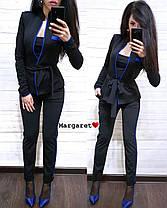 Очень крутой костюм тройка с поясом (жакет, укороченные брюки и майка), размеры С М, фото 2