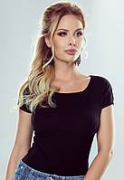 Женская футболка черного цвета Alva Eldar, коллекция весна-лето
