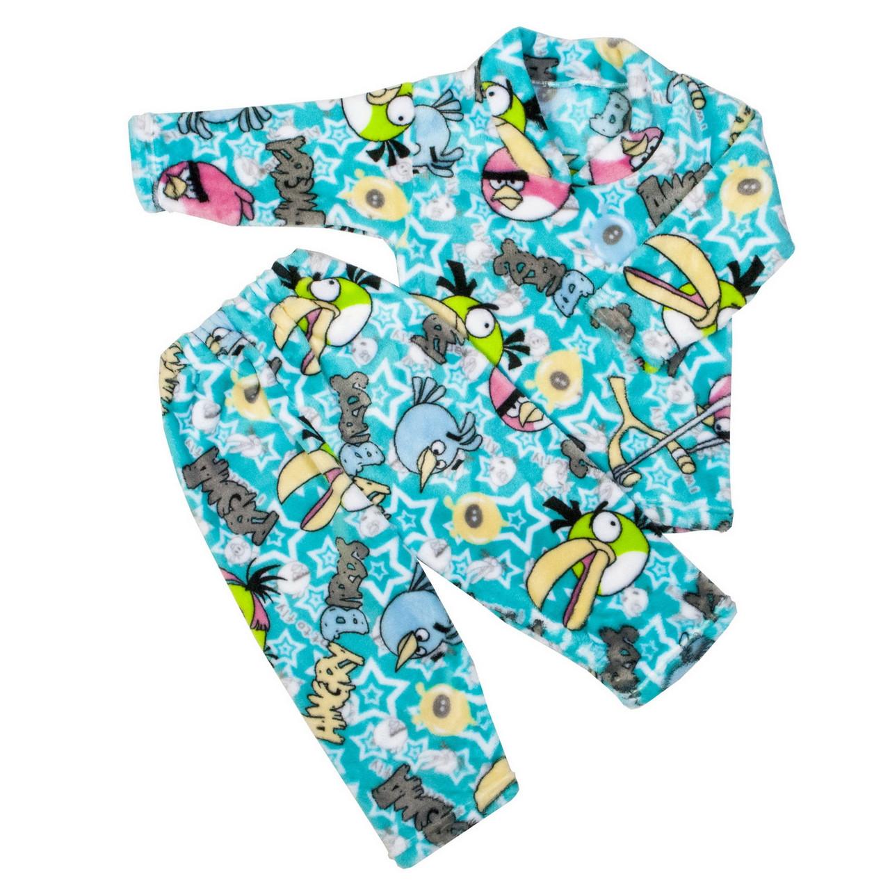 Пижама махра для девочек бердц бирюзовая