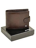 Мужской кошелек на кнопке из кожи Dr. Bond коричневого цвета (12,5*10 см), фото 1