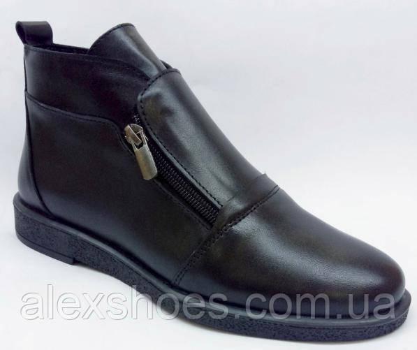 Ботинки демисезонные на низком ходу из натуральной кожи от производителя модель ИС28