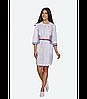 Медичний жіночий халат з вставками і пояском. Розміри 42-54
