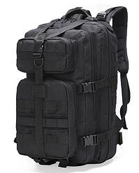 Тактический, городской, штурмовой,военный рюкзак ForTactic на 30-35литров Черный