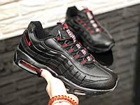 af9b8ed8 Nike air max 95 мужские кроссовки, найк аир макс, цвет- черный с красным