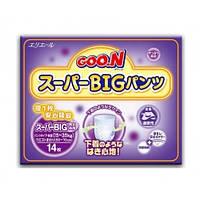 Японские трусики GooN Ночные Super Big (15-35кг) 14 шт
