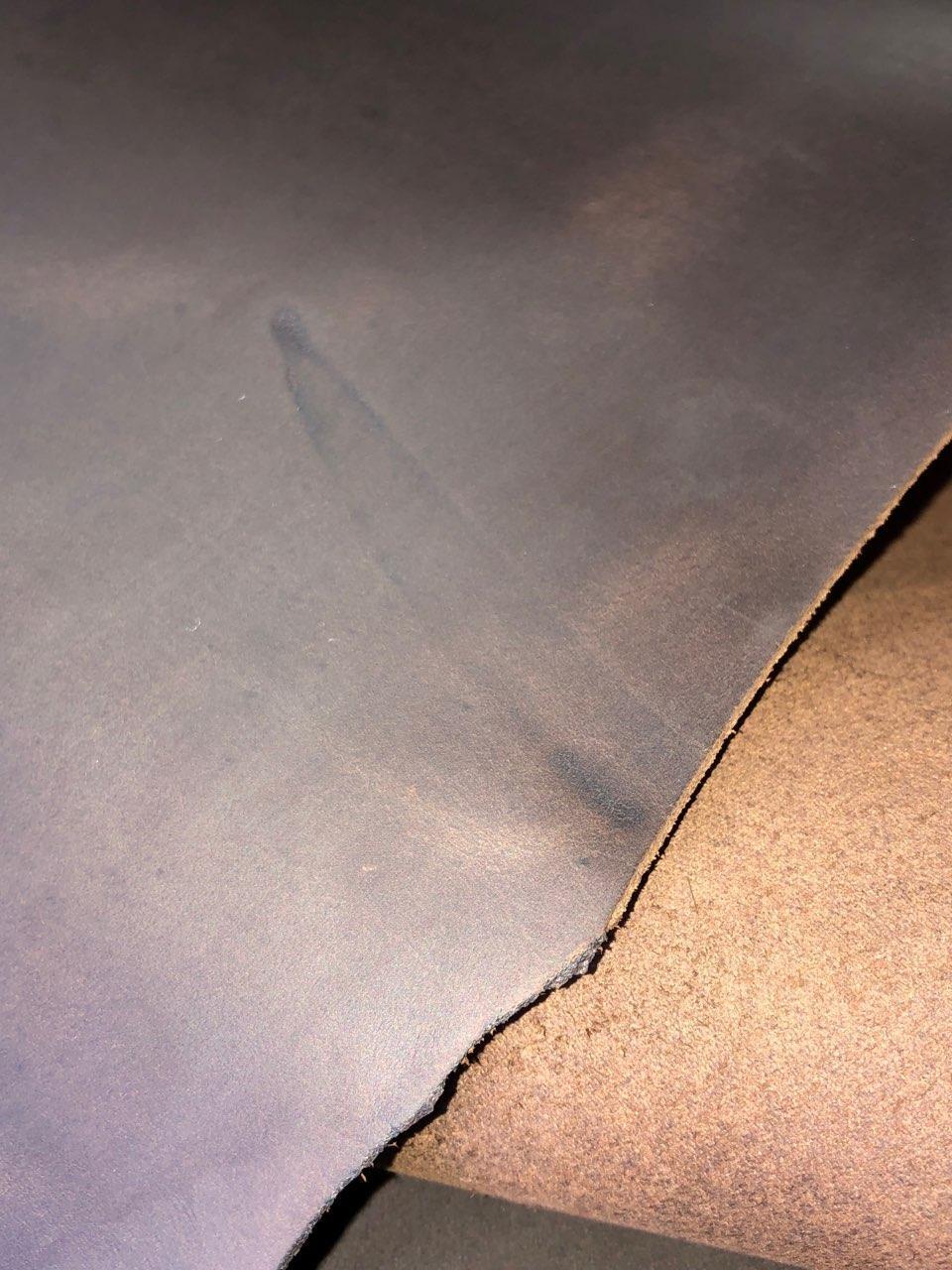 Натуральная кожа КРС Крейзи хорс цвет коричневый