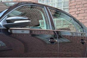 Хром накладки на уплотнители стёкол Volkswagen Jetta 2011+
