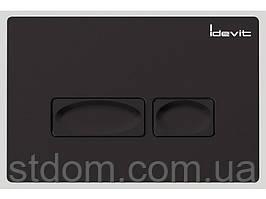 Клавиша для инсталляции Idevit53-01-04-033 черная глянцевая