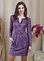 Короткое вечернее платье из атласа и гипюра