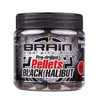 Пеллетс Brain Black Halibut Pre drilled 20mm 250g
