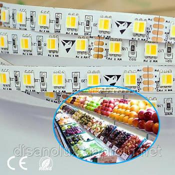 Led лента для подсветки  продуктовых  витрин  FL5050 -LED W/WW/R 17W/m 24V