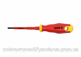 Викрутка діелектрична ізольована YATO до 1000V 3х75мм [12/120]