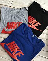 Мужская футболка хлопковая, хб, спортивная Nike, летняя, есть большие размеры
