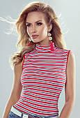 Блуза Emmi Eldar в красную полоску, коллекция весна-лето 2019