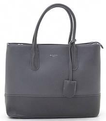 Женская сумка D. Jones с декором из кожи Gray