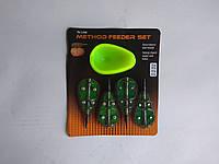 Набор кормушек 4+1 Method Feeder Set с пресформой, фото 1
