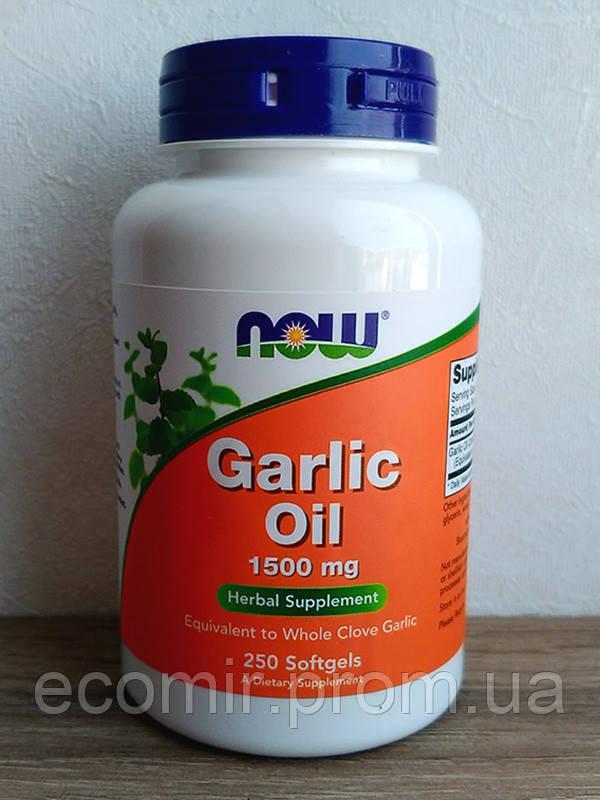 Чесночное масло, Now Foods (1500 мг / 250 капсул)