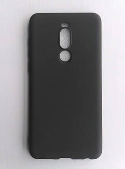 Силиконовый чехол Meizu M8 Note матовый Black (Черный)