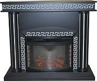 Камин электрический Krolewski Ogien Afina + P25 дуб темный c серебряной патиной