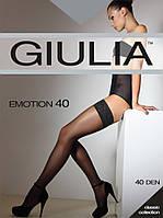 Чулки Giulia EMOTION 40Den, 2 силиконовые полосы, цвета в ассортименте