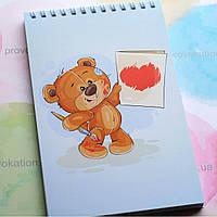 Блокнот на пружині - Ведмедик