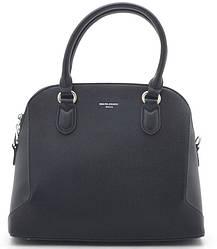 Женская сумка D. Jones black с боковыми вставками из замши