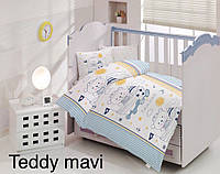 Детское постельное белье Altinbasak (ранфорс) № Teddy Mavi, фото 1