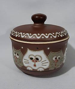 """Цукорниця керамічна """"Цікаві коти"""""""