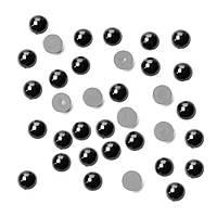Глазки-полубусины для игрушек, Ø 8 мм, черные, 5 г