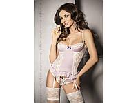 Розовый эротический корсет Passion SHANTI CORSET, фото 1