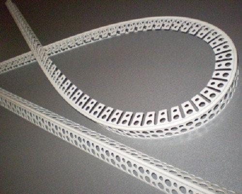 Угол пластиковый перфорированый арочный PCV - 3м