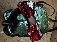 Женский рюкзак искусств кожа качество с двойная пайетка городской спортивный стильный 2019 опт, фото 1