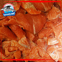 Куски лосося на шкуре без костей Норвегия 0,5кг