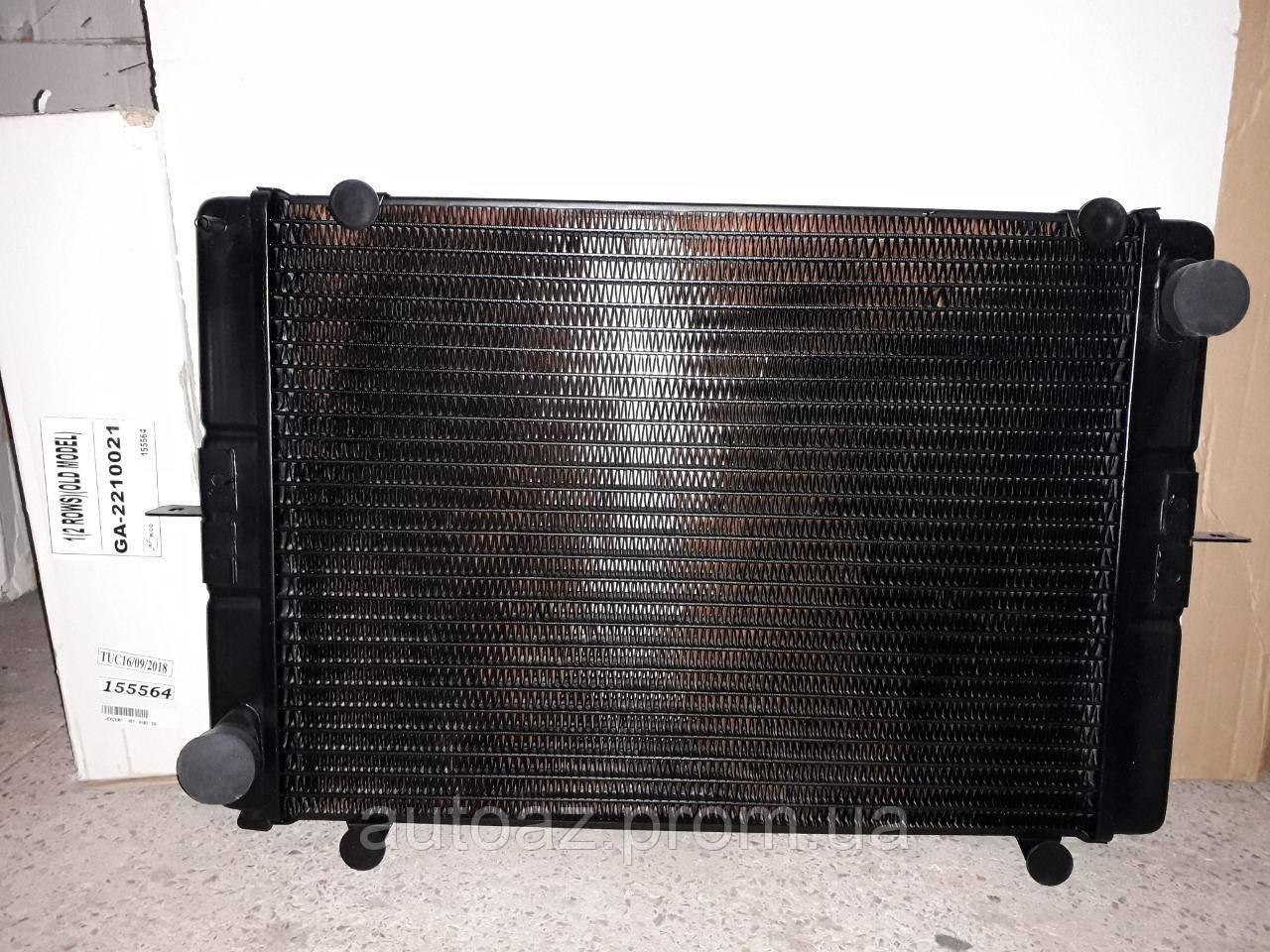 Радиатор охлаждения Газель 2 ряд медный старого и нового образца Иран