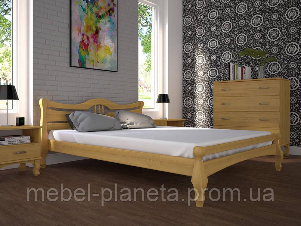 """Кровать деревянная """"Корона 1"""" Тис"""
